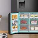 Hisense RQ760N4AFF side-by-side koelkast - 4-deurs - blacksteel-look