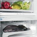 De lades onderin het koelgedeelte zijn praktisch voor het langer bewaren van groente, fruit, vlees en vis