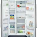 Binnenzijde SIEMENS side-by-side koelkast KA58NA45 zilvermetalic