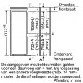 Maten van de deuren van de BOSCH inbouw koelkast KIV34A51