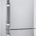 De LIEBHERR koelvriescombinatie CNPes4056 is uitgevoerd in rondom roestvrijstaal (vingervlekvrij)