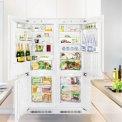 De Liebherr SBS66I3 side-by-side inbouw koelkast is volledig integreerbaar