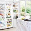 De Liebherr SBS70I4 side-by-side inbouw koelkast is volledig integreerbaar