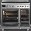 Praktisch is ook de kleine oven rechts welke snel op temperatuur is.