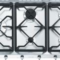 Smeg GKC955NLK inbouw gas kookplaat