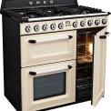 De SMEG TR93CNLK is voorzien van drie ovens