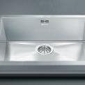 De Smeg VQ40F2 is een vlak inbouw spoelbak welke geintegreerd dient te worden in het keukenblad