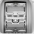 De opening van de trommel van de Zanussi ZWY61205WA wasmachine bovenlader