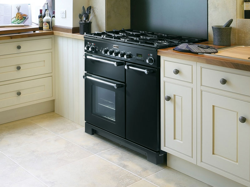 Zwart Keuken Fornuis : Falcon kitchener 90 zwart fornuis in meerdere kleuren