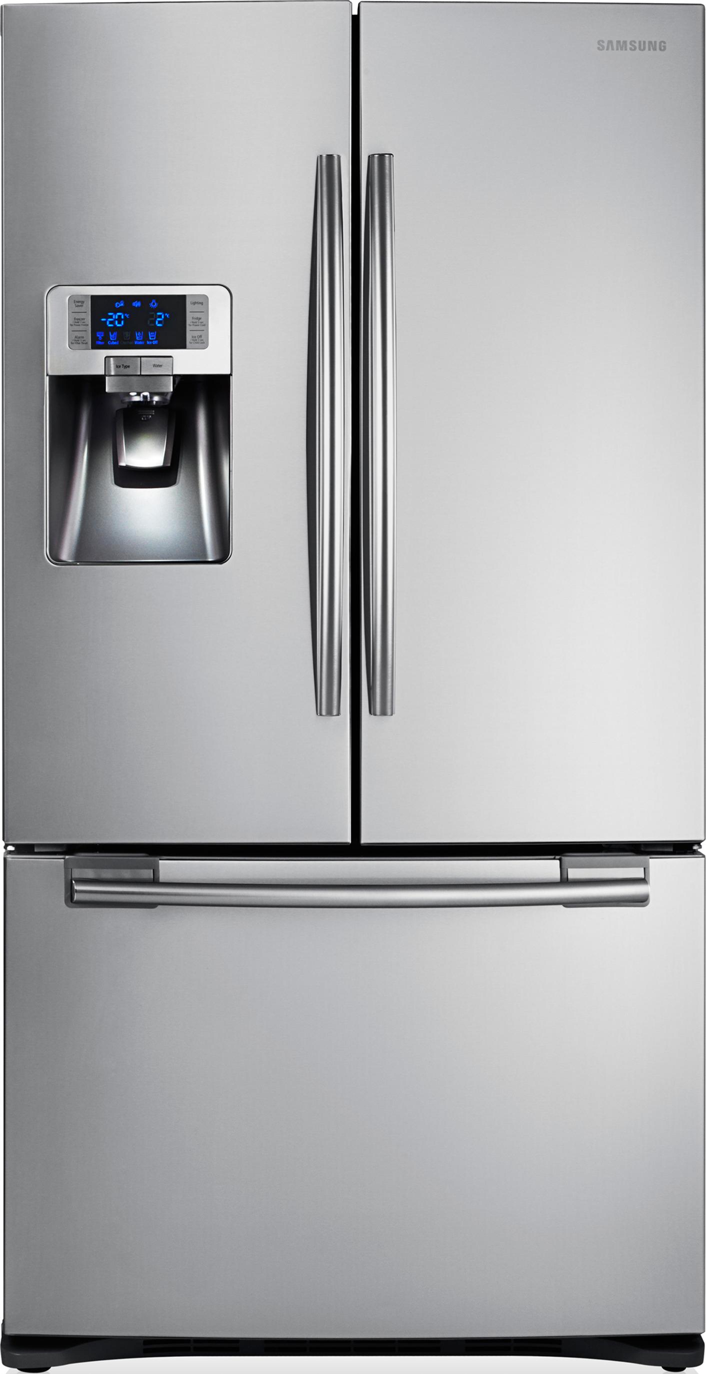 De Samsung RFG23UERS1 is een geheel nieuw design met vriesgedeelte onder en groot koelgedeelte boven