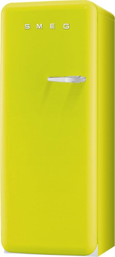Smeg FAB28LVE1 koelkast lime groen - linksdraaiend