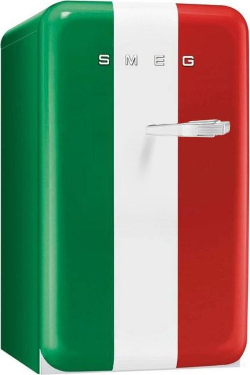 Smeg FAB10HLIT koelkast tricolore - linksdraaiend