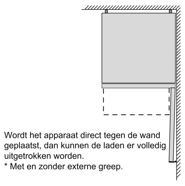 Maten (hoogte, breedte en diepte) SIEMENS koelkast wit KG36NVWER