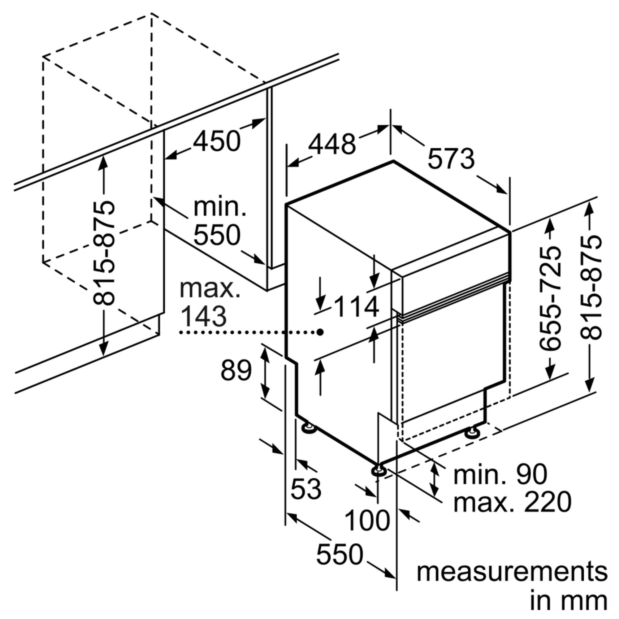 Standaard Afmetingen Inbouw Vaatwasser.Siemens Sr55e504eu