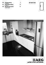 Gebruiksaanwijzing AEG koelkast tafelmodel S51600TSW2