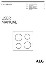 Gebruiksaanwijzing AEG kookplaat inbouw inductie IKE6445SFB