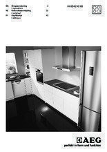 Gebruiksaanwijzing AEG kookplaat inductie HK6542H0XB
