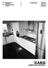 Gebruiksaanwijzing AEG kookplaat inductie HK8542H0XB