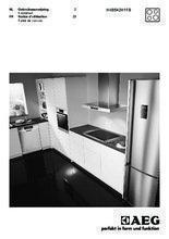 Gebruiksaanwijzing AEG kookplaat inductie HK8542H1FB