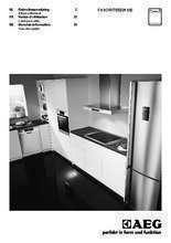 Gebruiksaanwijzing AEG vaatwasser inbouw F55331VI0