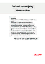 Gebruiksaanwijzing ASKO wasmachine W SWEDEN EDITION