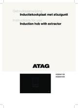 Gebruiksaanwijzing ATAG inductie kookplaat met afzuiging zwart HIDD8471EV
