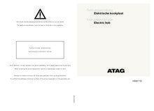 Gebruiksaanwijzing ATAG kookplaat elektrisch HE6011B
