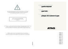 Gebruiksaanwijzing ATAG kookplaat inbouw HG6211BA