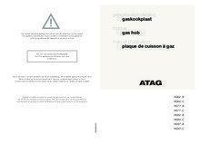 Gebruiksaanwijzing ATAG kookplaat inbouw grafiet HG6292BA