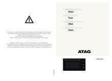 Gebruiksaanwijzing ATAG oven inbouw grafiet OX9570G