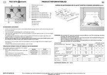 Gebruiksaanwijzing BAUKNECHT kookplaat inbouw TGZ5470IXL