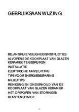 Gebruiksaanwijzing BAUKNECHT kookplaat keramisch ETC8640IN