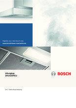 Gebruiksaanwijzing BOSCH afzuigkap onderbouw motoloos DHU635PEU