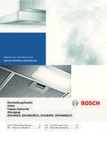 Gebruiksaanwijzing BOSCH afzuigkap onderbouw wit DHU642D