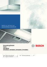 Gebruiksaanwijzing BOSCH afzuigkap onderbouw wit DHU642U