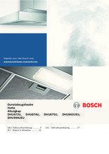 Gebruiksaanwijzing BOSCH afzuigkap onderbouw wit DHU672U