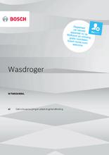 Gebruiksaanwijzing BOSCH droger warmtepomp WTW85495NL