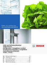 Gebruiksaanwijzing BOSCH koelkast inbouw KIL72AD30
