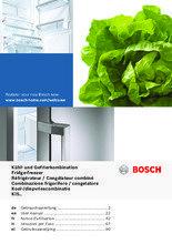 Gebruiksaanwijzing BOSCH koelkast inbouw KIS77AD40