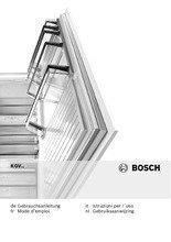 Gebruiksaanwijzing BOSCH koelkast rvs-look KGV33VL31