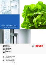 Gebruiksaanwijzing BOSCH koelkast rvs-look KSV33VL30