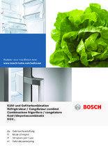 Gebruiksaanwijzing BOSCH koelkast rvs KGV39VI31