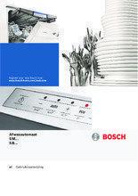 Gebruiksaanwijzing BOSCH vaatwasser inbouw SBV88TX01N