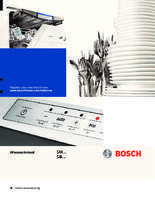 Gebruiksaanwijzing BOSCH vaatwasser inbouw SMV84L10EU