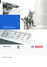 Gebruiksaanwijzing BOSCH vaatwasser inbouw verhoogd SBV86M60EU