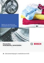 Gebruiksaanwijzing BOSCH wasmachine WAW32592NL