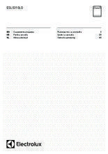 Gebruiksaanwijzing ELECTROLUX vaatwasser inbouw ESL5310LO