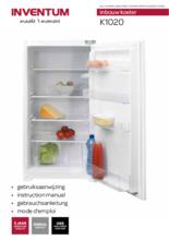 Gebruiksaanwijzing INVENTUM koelkast inbouw K1020