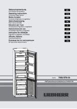 Gebruiksaanwijzing LIEBHERR koelkast CNPEF4833-20