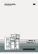 Gebruiksaanwijzing LIEBHERR koelkast CTPsl2121-20
